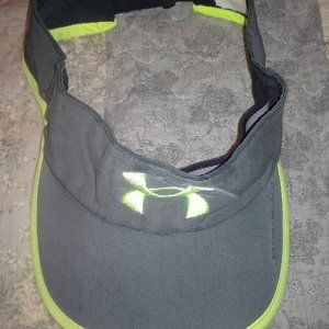 Under Armour visor cap gray/lime green